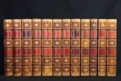 Antique Leather Books Stock Image