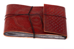 Antique leather bound book Stock Photos