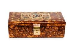 Antique leather box Stock Photo