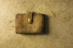 Antique Leather Purse Royalty Free Stock Photography