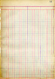Antique ledger page Royalty Free Stock Images