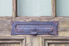 Antique letter mail box Royalty Free Stock Photo