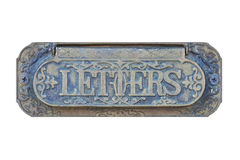 Antique letter mail box Royalty Free Stock Images