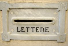 Antique letterbox Stock Photography
