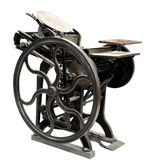 Antique letterpress from 1888 Stock Image