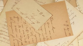 Antique letters stock video