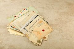 Antique letters Royalty Free Stock Photography