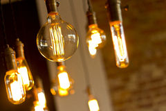 Antique Light Bulbs Stock Photography