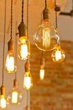 Antique Light Bulbs Stock Photography