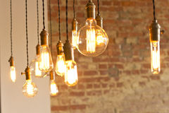 Antique Light Bulbs Royalty Free Stock Photography