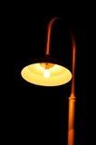 Antique light pillar. In the dark night Stock Images