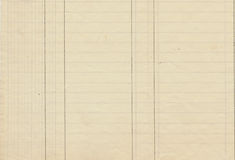 Antique Lined Ledger Paper. With lines and grid in cream color Stock Image