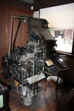 Antique Linotype Machine Stock Photo