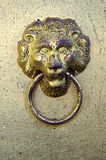 Antique Lion Door Knocker Royalty Free Stock Images