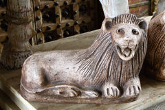 Antique lion. Marble statue. South India Stock Photos