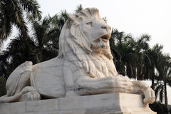 Antique Lion Statue at Victoria Memorial Gate, Kolkata Stock Image