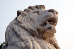 Antique Lion Statue at Victoria Memorial Gate, Kolkata Royalty Free Stock Photo