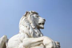 Antique Lion Statue at Victoria Memorial Gate, Kolkata Royalty Free Stock Photos