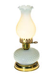 Antique Lit Table Lamp Isolated on White Royalty Free Stock Photo