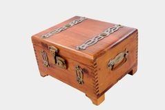 Antique Lockable Cigar Box Stock Photo