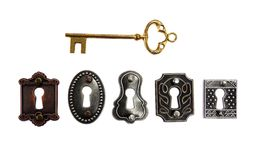 Antique locks Royalty Free Stock Photos