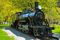 Antique locomotive in Newhalem, Washington Stock Images