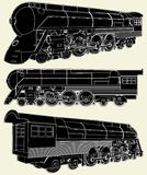 Antique Locomotive Vector 01. Antique Locomotive Isolated Illustration Vector Stock Photos