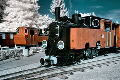 Antique locomotives. Stock Photos