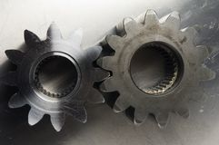 Antique look of gear-wheel Royalty Free Stock Photos