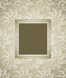 Antique look invitation card Royalty Free Stock Image