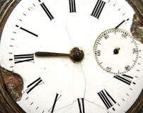 Antique looking clock face Royalty Free Stock Photo