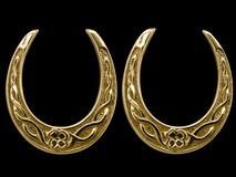 Antique lucky horse shoes Royalty Free Stock Photography
