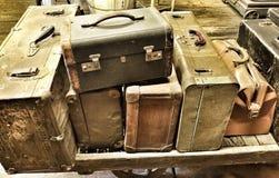 Antique luggage Stock Photo