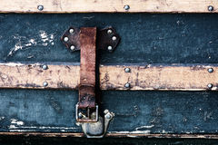 Antique Luggage Strap royalty free stock images