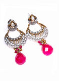 Antique luxurious ear dangles jewellery Stock Photo