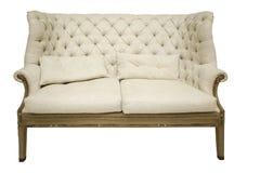 Antique luxury beige sofa Royalty Free Stock Photos