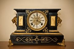 Antique luxury clock Royalty Free Stock Photo