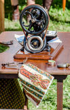Antique machine sewing machine Stock Photo