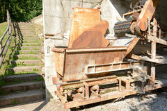 Antique machinery of a cement industry Stock Image