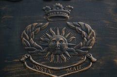 Antique mail box Stock Image