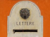 Antique mailbox with venetian lion Royalty Free Stock Photography