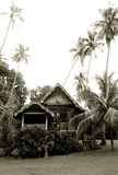Antique Malaysian rural wooden house royalty free stock photo