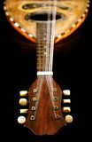 Antique Mandolin. Old mandolin view from neck stock image