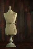 Antique Mannequin Busts on Wood Grunge Background Royalty Free Stock Photos