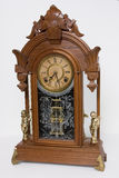 Antique mantle clock Royalty Free Stock Photo
