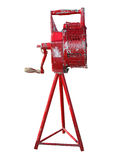 Antique Manual Fire Siren. Isolated with clipping path royalty free stock photos