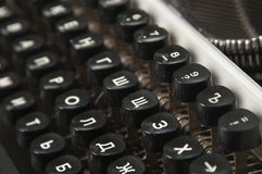 Antique manual typewriter Stock Photography