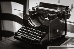 Antique manual typewriter on the table Royalty Free Stock Images