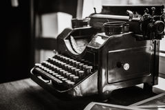 Antique manual typewriter on the table Royalty Free Stock Photo