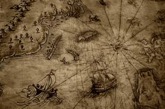 Antique map Royalty Free Stock Photo